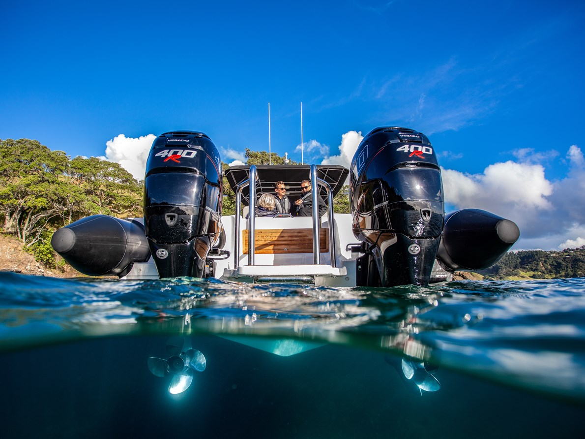 WALK THROUGH SWIM PLATFORM FOR TWIN OUTBOARD CONFIGURATION