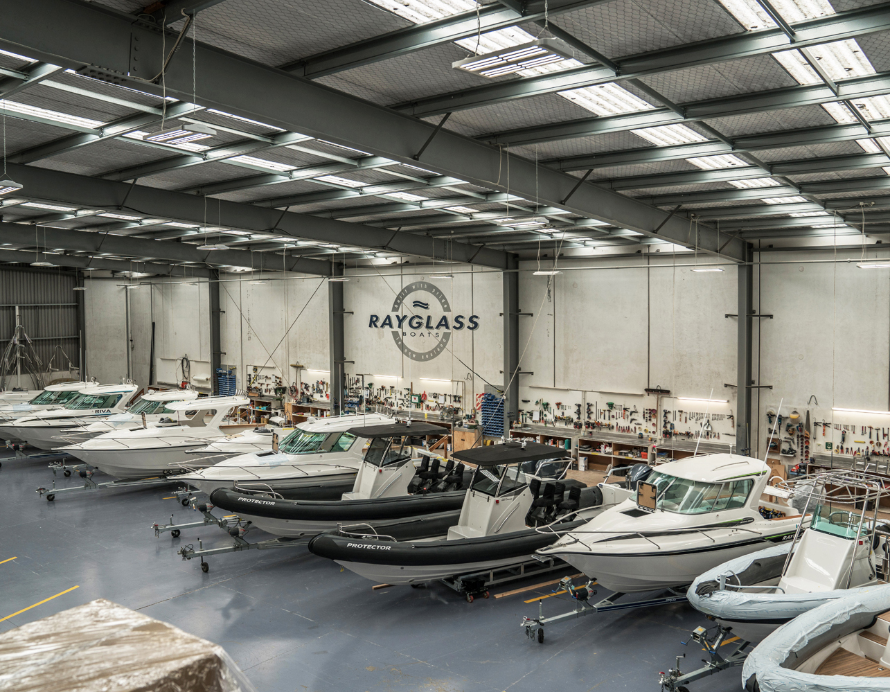 Work at Rayglass Boats